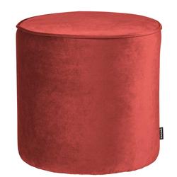 Samt Pouf in Rot Retrostil