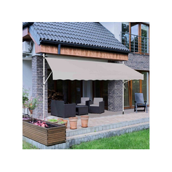 Strattore Standmarkise Klemmmarkise / Balkonmarkise Sonnenschutz 300 x 120 cm - Grau