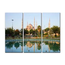 Bilderdepot24 Leinwandbild, Leinwandbild - Sultan-Ahmet-Moschee in Istanbul - Türkei 90 cm x 60 cm