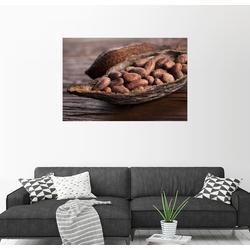 Posterlounge Wandbild, Kakaobohnen in Schote 90 cm x 60 cm