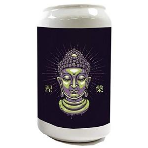 Spardose Sparbüchse Geld-Dose Wiederverschließbar Farbe Weiß Kirche Buddha Keramik Bedruckt