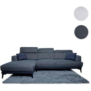 Sofa HWC-G44, Couch Ecksofa L-Form, Liegefläche Nosagfederung Taschenfederkern Teppich verstellbar ~