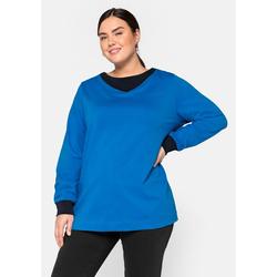 Sheego Sweatshirt Sheego ozeanblau