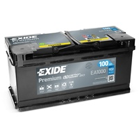 EXIDE EA1000 Premium Carbon Boost 100Ah 900A (EN)