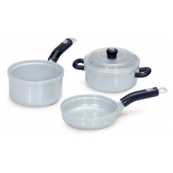 Klein Kinder-Küchenset WMF - Pfannen- und Topfset - grau