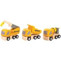 PlanToys Straßenbau-LKW 3er (6047)