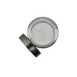 Aufbewahrungsdose ¦ grau ¦ Glas , Edelstahl ¦ Maße (cm): H: 22,5 Ø: [10.0]