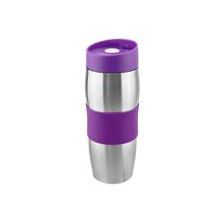 Wellgro Thermobecher Thermobecher 380 ml - Edelstahl - BPA-frei - Isolierbecher - Kaffeebecher, Thermosflasche, Farbe wählbar lila