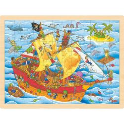 goki Puzzle Einlegepuzzle Piraten, Puzzleteile
