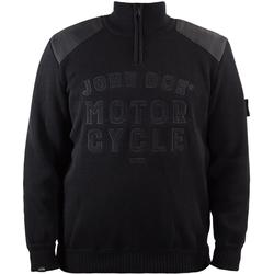 John Doe Knit Zip Big Logo Pullover, black, Größe 4XL