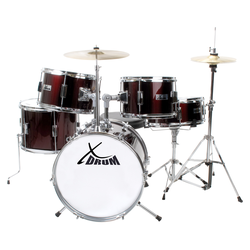 XDrum Junior Pro Kinder Schlagzeug Red inkl. Schule + DVD