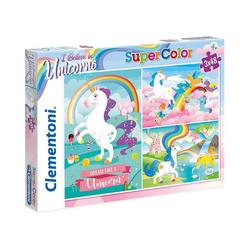Clementoni® Puzzle Puzzle 3x48 Teile - Einhörner, Puzzleteile