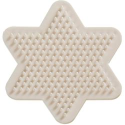 VBS Bügelperlen Nabbi Bio Legeplatte, Stern, 9 cm