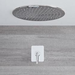 Ora - Einhebel Unterputz Duscharmatur mit 400mm rundem Unterputz Duschkopf - Chrom, von Hudson Reed
