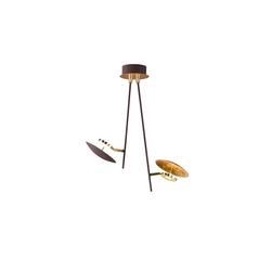 Wofi LED-Deckenleuchte Salem in rostfarbig/goldfarbig, 2-flammig