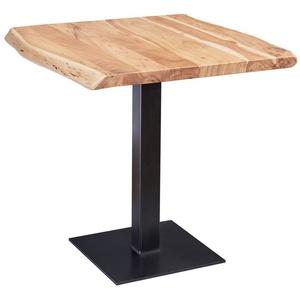 Wohnling Esstisch WL5.975, Baumkante 80 x 75 x 75 cm Akazie Massivholz Esszimmertisch Kleiner Holztisch Esszimmer Designer Küchentisch Quadratisch (FSC® Mix)