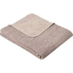 Wolldecke Jacquard Decke Rom, IBENA, GOTS zertifiziert braun