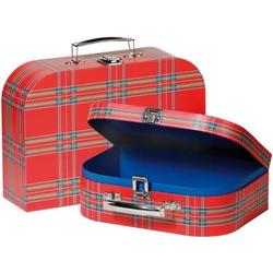 Koffer im Schottenmuster 2er Set 60103