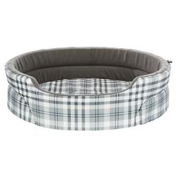 Trixie Bett Lucky grau/weiß für Hunde, Maße: 55 x 45 cm