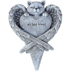 Stone and Style Dekoobjekt Grabschmuck Katze Best Friend frostfest massiver Steinguss