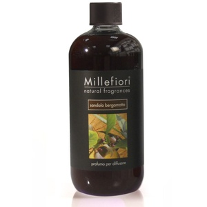 MILLEFIORI Natural Raumduft Diffuser Nachfüllflasche 500 ml SANDALO BERGAMOTTO