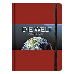 KUNTH Taschenatlas Die Welt - Atlas kompakt  rot - Buch