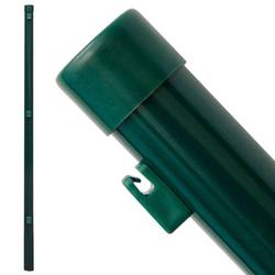 Zaunpfosten Pfosten 120cm Zaunpfahl Ø34mm Metall-Pfosten inkl. Drahthalter | für Einschlag-Bodenhüls