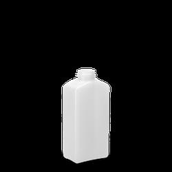 250 ml Vierkantflasche PCR HDPE - natur - DIN 28