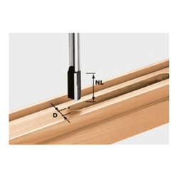 Festool Nutfräser HW Schaft 12 mm HW S12 D18/45
