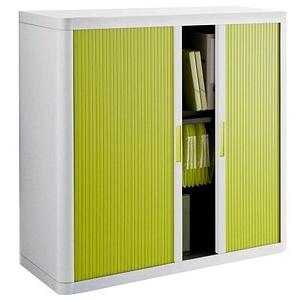 PAPERFLOW   Rollladenschrank grün/weiß keine Fachböden