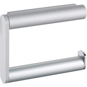 KEUCO Toilettenpapierhalter aus Metall, hochglanz-verchromt und Aluminium silber, offene Form, WC-Rollenhalter für Badezimmer und Gäste-WC, Plan
