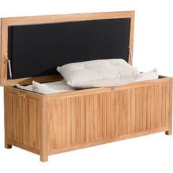 CLP Auflagenbox ODESSA aus Teakholz I Gartentruhe für Kissen und Auflagen I In verschiedenen Größen erhältlich