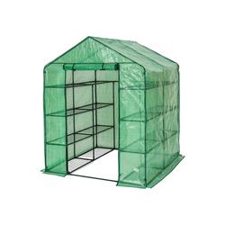tectake Gewächshaus Gewächshaus mit Plane quadratisch, UV stabilisierte PVC Folie