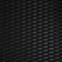 Tectake Rattansessel 59 x 57 x 86 cm schwarz 2 St.