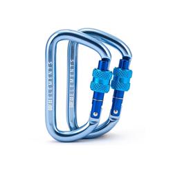 GO!elements Karabiner Strong 8, (2Stück), mit Schraubverschluss - 1200kg Bruchlast Karabinerhaken 12kN blau