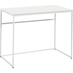 now! by hülsta Schreibtisch CT 17, mit weißem Gestell, perfekt auch als Schminktisch weiß