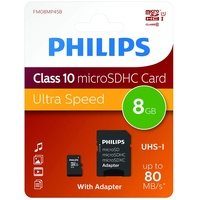 Philips microSDHC Ultra Speed 8GB Class 10 UHS-I + SD-Adapter