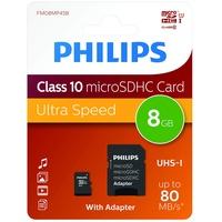 Philips microSDHC Ultra Speed 8GB Class 10 UHS-I + SD-Adapter
