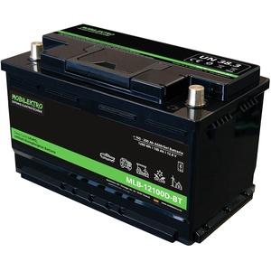 MOBILEKTRO® LiFePO4 100Ah 12V 1280Wh Lithium Versorgungsbatterie mit BMS und Bluetooth - EQ 160Ah - 200Ah AGM oder Gel Aufbaubatterie für Wohnmobil, Boot, Camping oder Solaranlage, L5 DIN-Größe