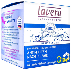 Lavera Basis Sensitiv Anti - Falten Nachtcreme Mit Q 10 50 ml