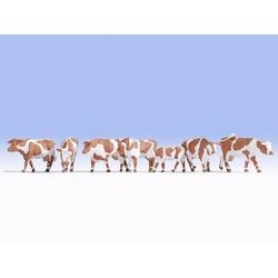 NOCH 15726 H0 Figuren Kühe braun-weiß