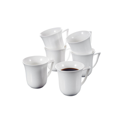 MALACASA Teller CARINA, (12 Stück), Kaffeebecher Set aus Porzellan rund - 10 cm