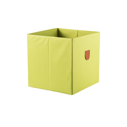 Regalbox ¦ grün ¦ Pappe, Polyester ¦ Maße (cm): B: 34 H: 34 T: 34