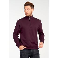 SOULSTAR Sweatshirt mit lässigem Stehkragen rot XL