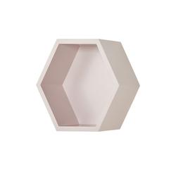 Wandregal  Hexagon ¦ rosa/pink ¦ Maße (cm): B: 27 H: 27 T: 12