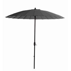 GMD Living Sonnenschirm MANILLA, dekorativer Stocksonnenschirm mit 16 Fiberglas Speichen grau