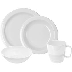 WACA Frühstücks-Geschirrset (8-tlg), Kunststoff weiß