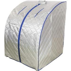 chi-enterprise Dampfsauna I Stecksauna mit Dampferzeuger 2 Liter 1000 Watt I Komfort-Sauna mit drahtloser Fernbedienung und elektr. geregeltem Dampferzeuger I Schneller Auf- & Abbau