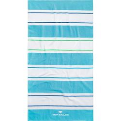 TOM TAILOR Strandtuch Streifen (1-St), mit unterschiedlichen Streifen blau