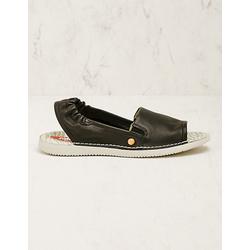 Softinos Damen Leder-Sandalen Faline schwarz